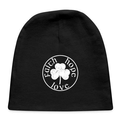 Irish Shamrock Faith Hope Love - Baby Cap