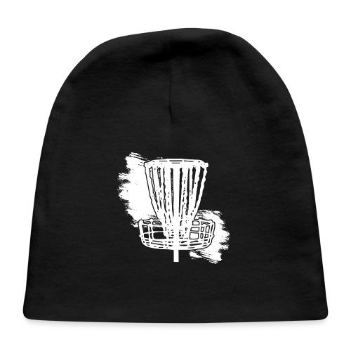 Disc Golf Basket White Print - Baby Cap