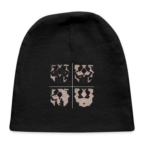 4 art deco bears - Baby Cap