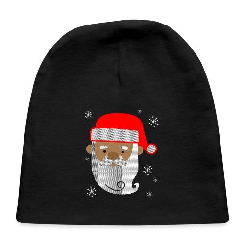 Black Santa Texture - Baby Cap