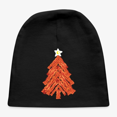Funny Bacon and Egg Christmas Tree - Baby Cap