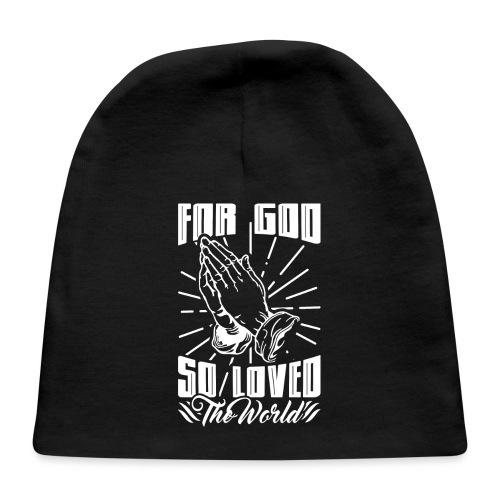 For God So Loved The World… - Alt. Design (White) - Baby Cap