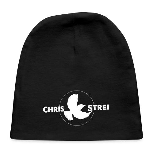Chris Strei BlackBird Logo (white) - Baby Cap