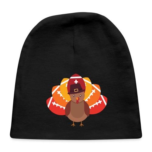 Funny Turkey Football - Baby Cap