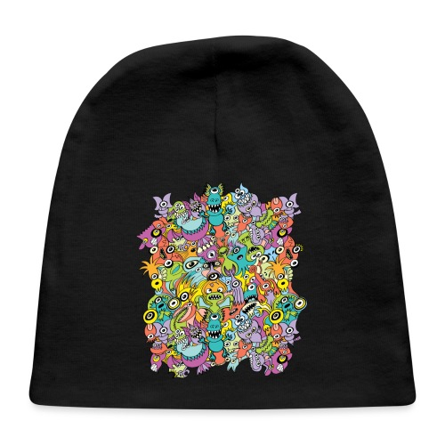 Aliens of the universe posing in a pattern design - Baby Cap