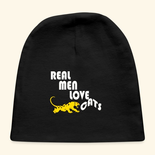 Real Men Love Cats T-Shirt for cat people tee - Baby Cap