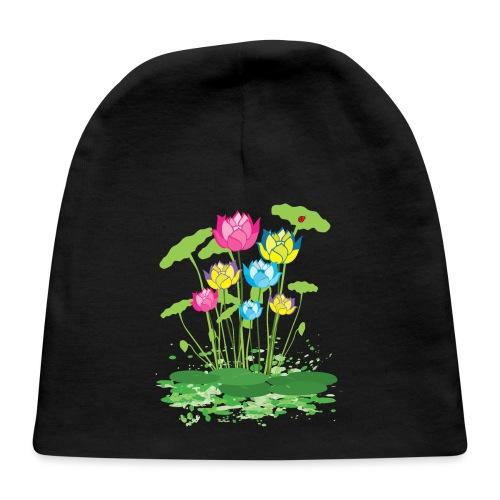 colorful waterlilies flowers - Baby Cap