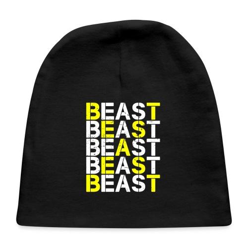All Beast Bold distressed logo - Baby Cap