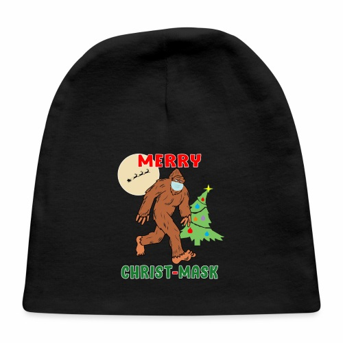 Merry Christmask Sasquatch Mask Social Distance. - Baby Cap
