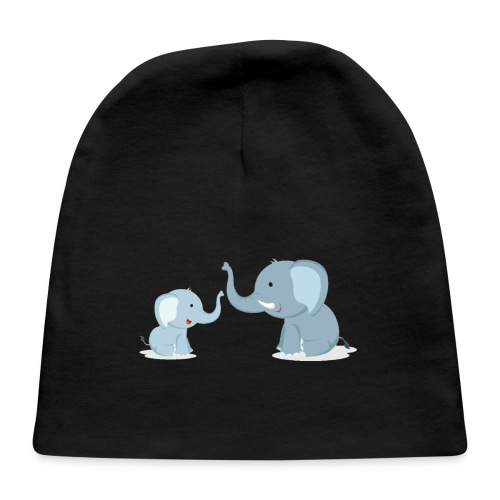 Father and Baby Son Elephant - Baby Cap