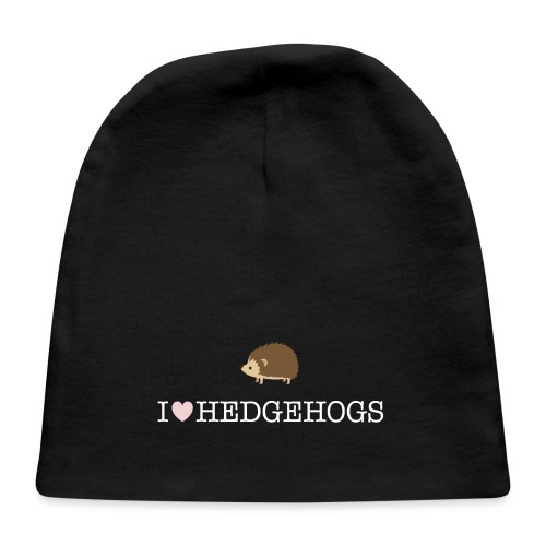 I Love Hedgehogs with Hedgehog Illustration - Baby Cap
