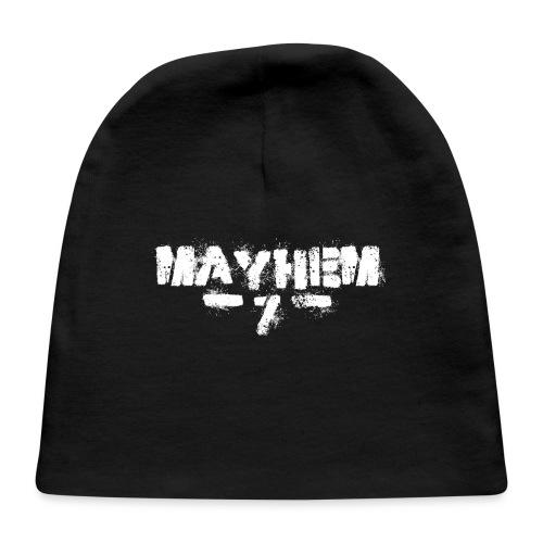 MayheM7 Logo-7 White - Baby Cap