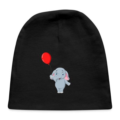 Baby Elephant Holding A Balloon - Baby Cap