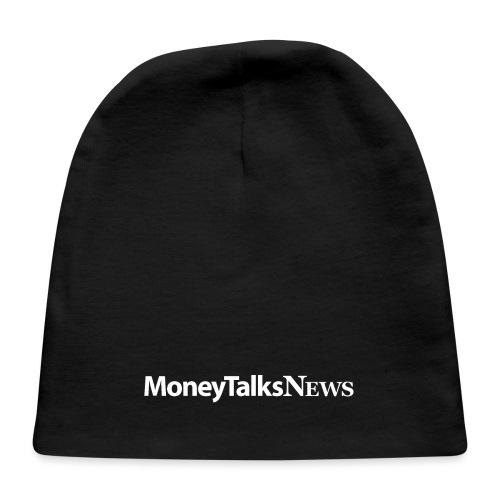 Money Talks News Logo - White - Baby Cap
