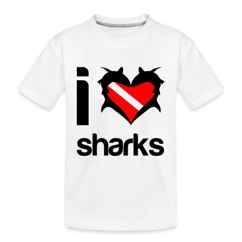 I Love Sharks - Toddler Premium Organic T-Shirt