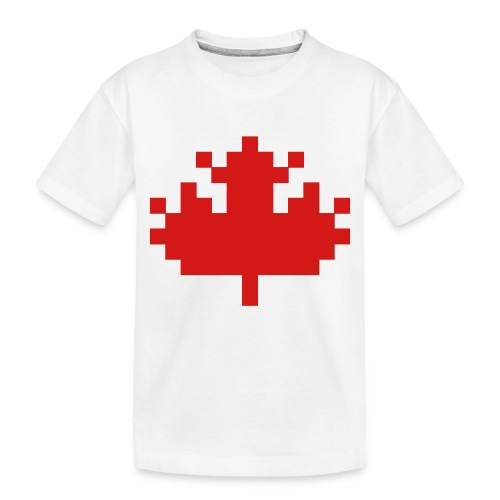 Pixel Maple Leaf - Toddler Premium Organic T-Shirt