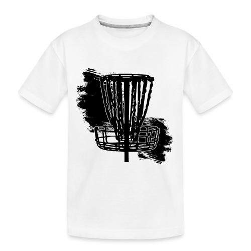 Disc Golf Basket Paint Black Print - Toddler Premium Organic T-Shirt
