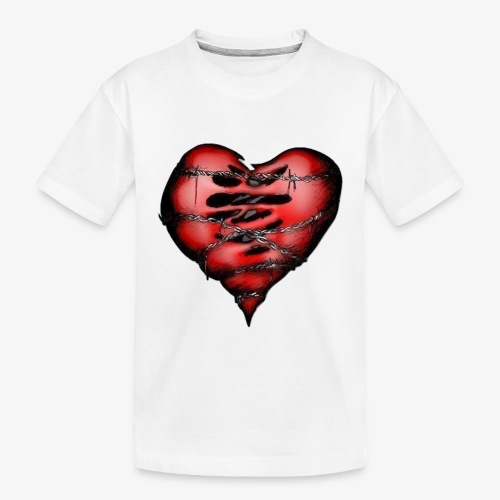 Chains Heart Ceramic Mug - Toddler Premium Organic T-Shirt