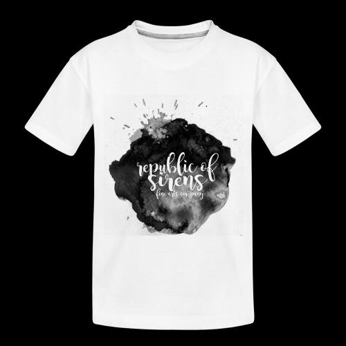 ROS FINE ARTS COMPANY - Black Aqua - Toddler Premium Organic T-Shirt