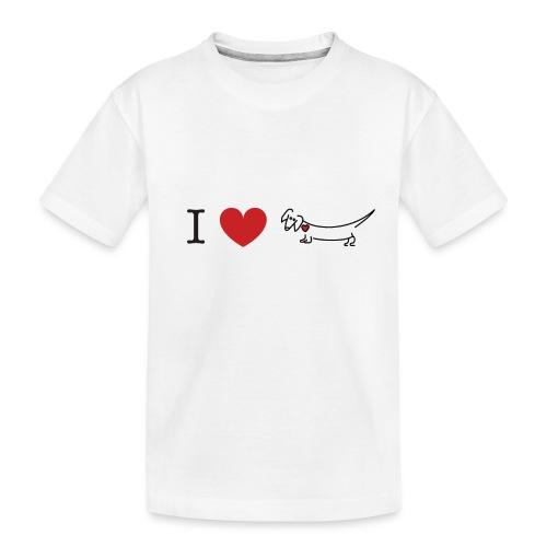 I love Dachshund - Toddler Premium Organic T-Shirt