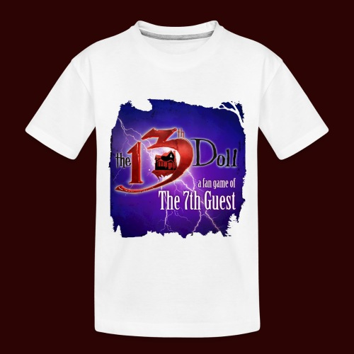 The 13th Doll Logo With Lightning - Toddler Premium Organic T-Shirt