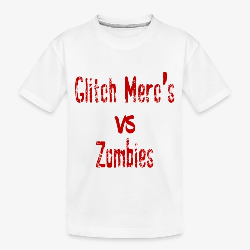 glitch zombie red - Toddler Premium Organic T-Shirt