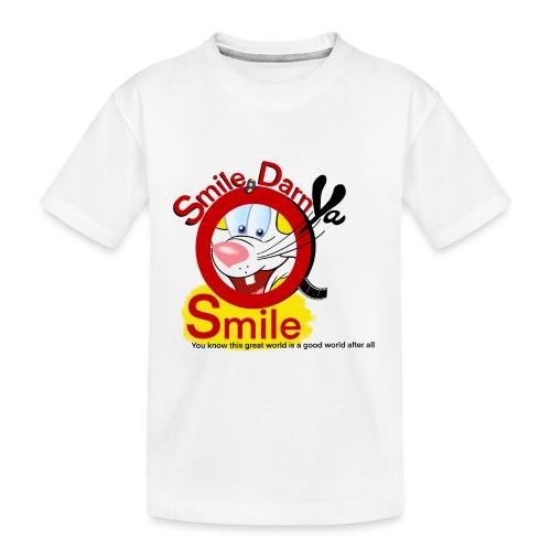Smile Darn Ya Smile - Toddler Premium Organic T-Shirt