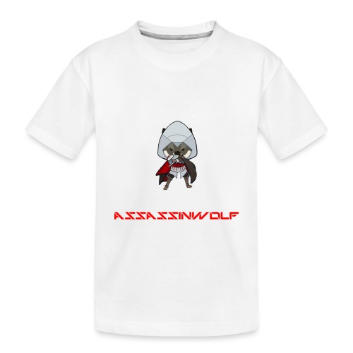 heather gray assassinwolf Tee - Toddler Premium Organic T-Shirt