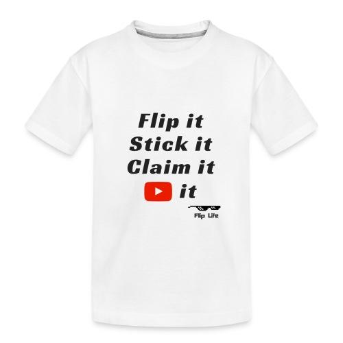 Flip it t-shirt black letting youtube logo - Toddler Premium Organic T-Shirt