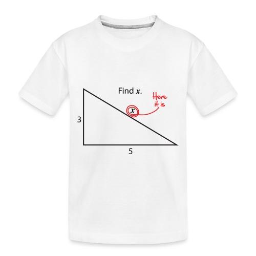 Find X - Toddler Premium Organic T-Shirt