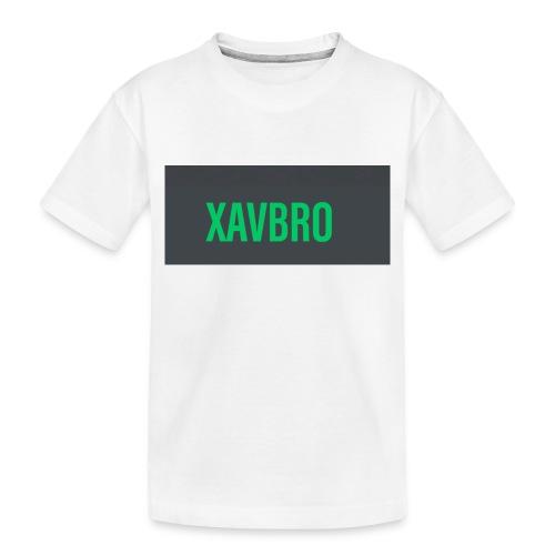 xavbro green logo - Toddler Premium Organic T-Shirt