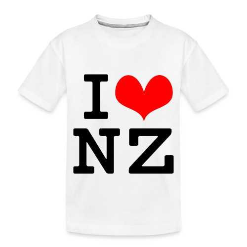 I Love NZ - Toddler Premium Organic T-Shirt