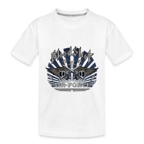 BloodShot Air Force with black - Toddler Premium Organic T-Shirt