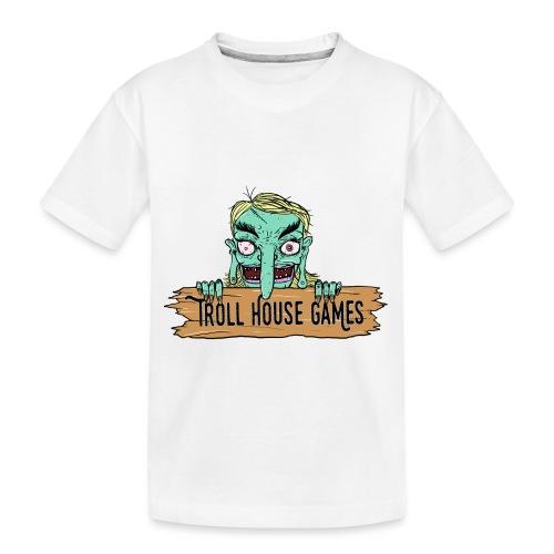 Troll House Games Cartoon Logo - Toddler Premium Organic T-Shirt