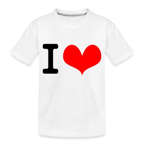 I Love what - Toddler Premium Organic T-Shirt