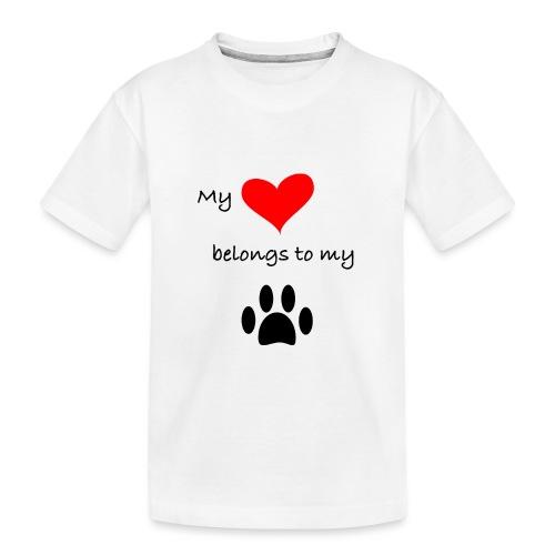 Dog Lovers shirt - My Heart Belongs to my Dog - Toddler Premium Organic T-Shirt