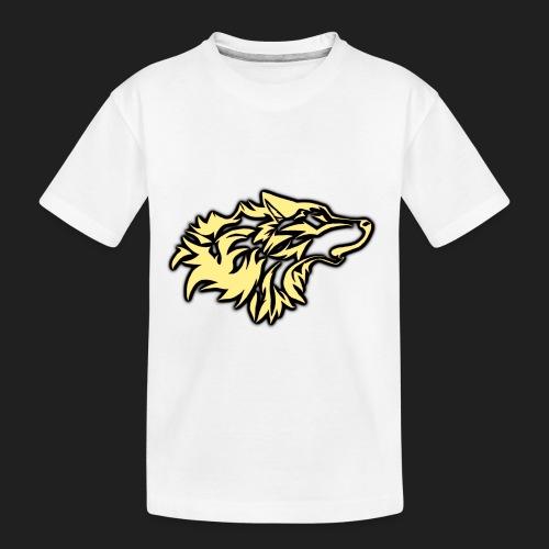 wolfepacklogobeige png - Toddler Premium Organic T-Shirt