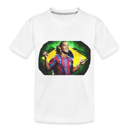 Ronaldinho Brazil/Barca print - Toddler Premium Organic T-Shirt