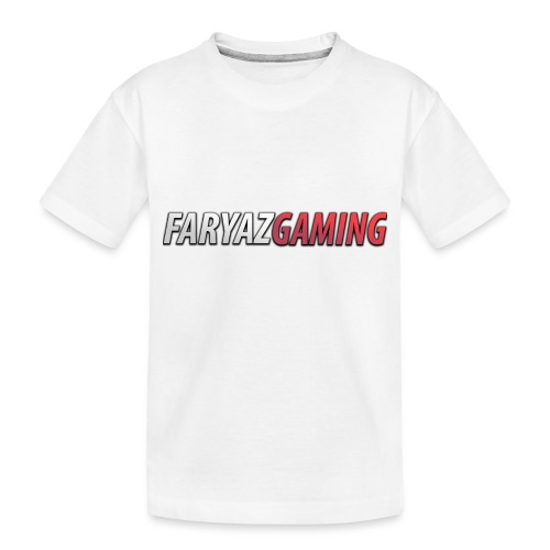 FaryazGaming Text - Toddler Premium Organic T-Shirt