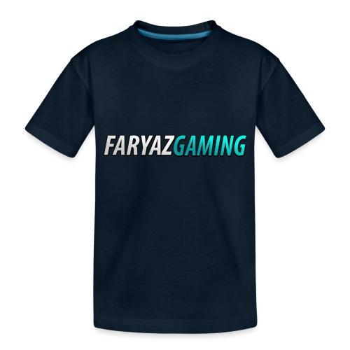FaryazGaming Theme Text - Toddler Premium Organic T-Shirt
