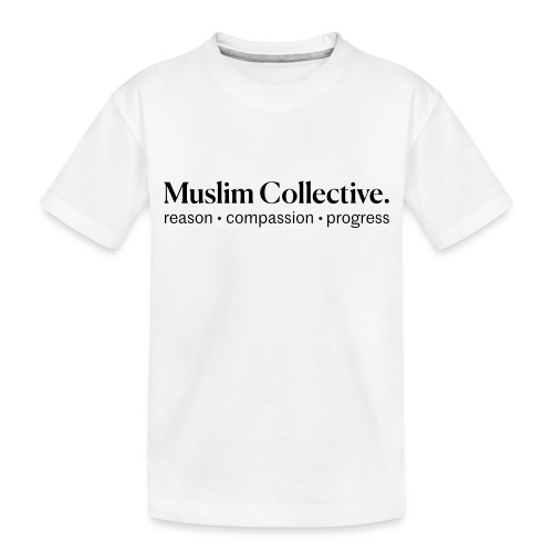 Muslim Collective Logo + tagline - Toddler Premium Organic T-Shirt