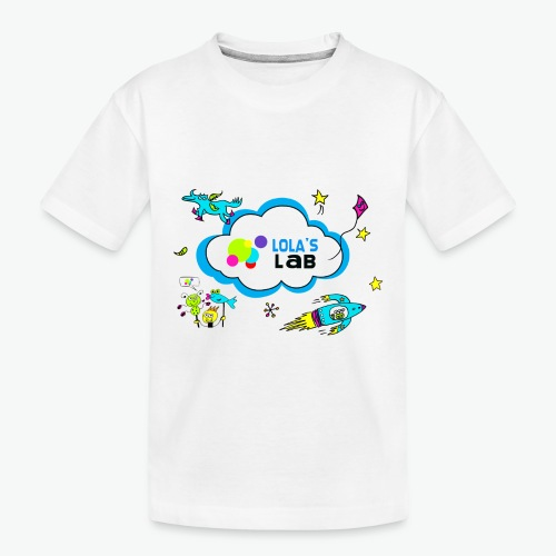 Lola's Lab illustrated logo tee - Toddler Premium Organic T-Shirt