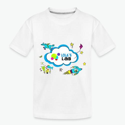 Lola's Lab illustrated logo tee - Toddler Premium Organic T-Shirt