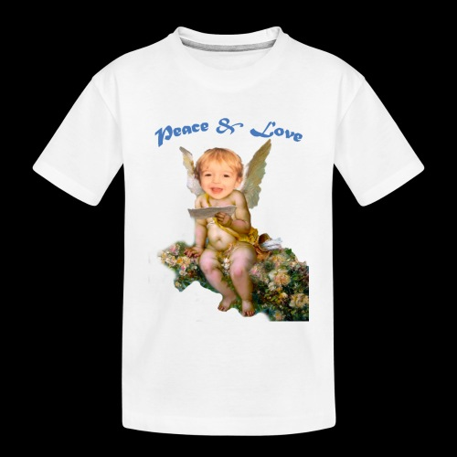 Peace and Love - Toddler Premium Organic T-Shirt