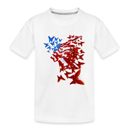 The Butterfly Flag - Toddler Premium Organic T-Shirt