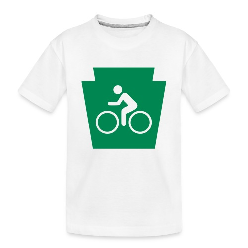 PA Keystone w/Bike (bicycle) - Toddler Premium Organic T-Shirt