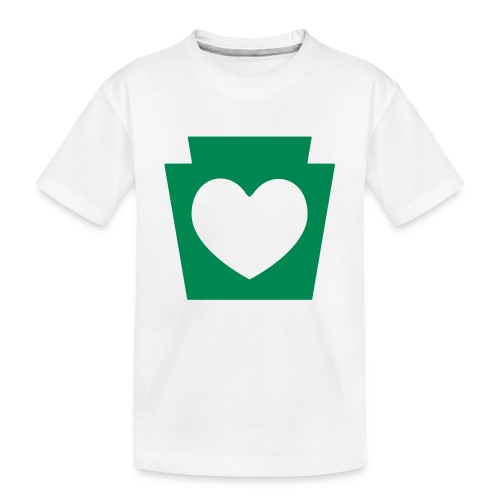 Love/Heart PA Keystone - Toddler Premium Organic T-Shirt