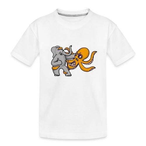 Elephant vs. Octopus T-Shirt - Toddler Premium Organic T-Shirt