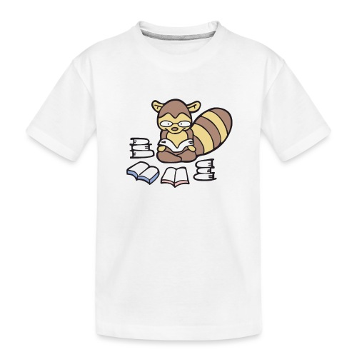 Reading Raccoon - Toddler Premium Organic T-Shirt