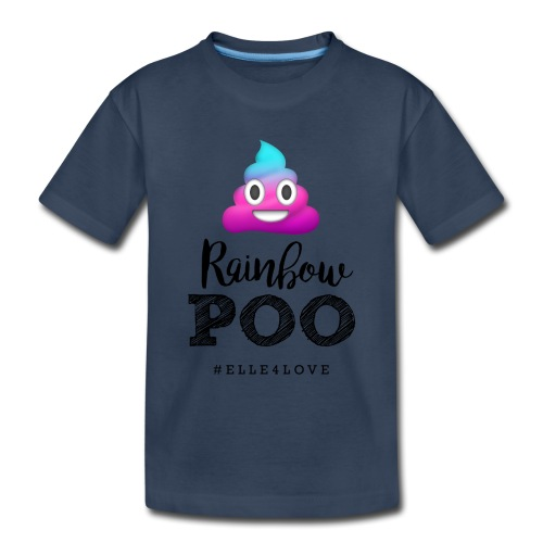 Rainbow Poo - Toddler Premium Organic T-Shirt